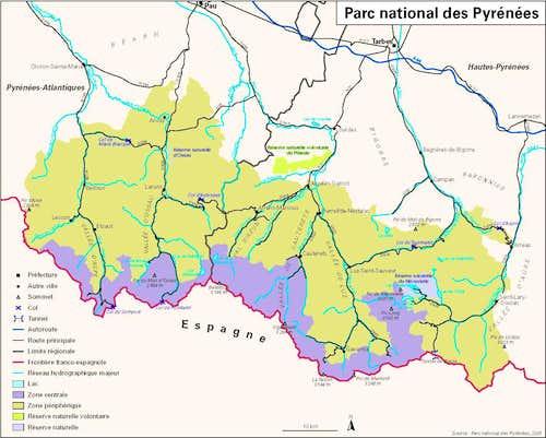 Map of Pyrénées