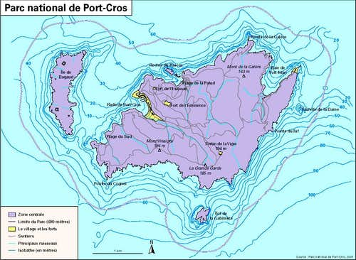 Map of Port-Cros