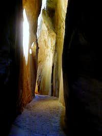 Light bounces off the canyon...