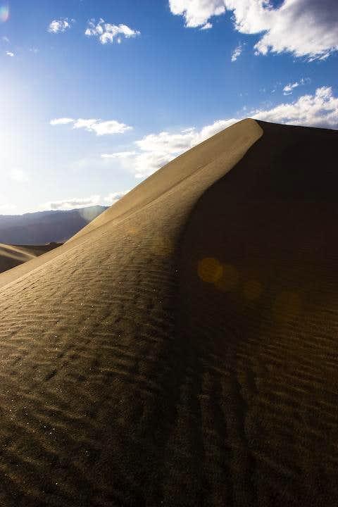 Death Valley dune at dusk