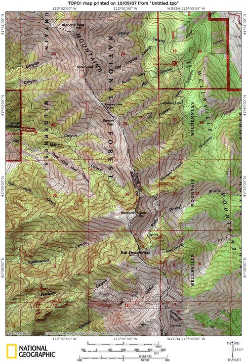 Wellsville Utah Map.Wellsville Mountains Climbing Hiking Mountaineering Summitpost