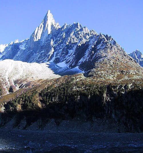The Dru\'s west face with the...