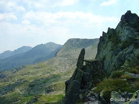 The northern main ridge of Retezat Mountains