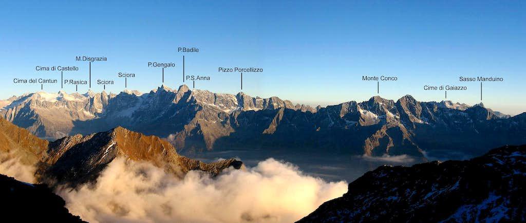 Panoramic view seen from Pizzo Stella.