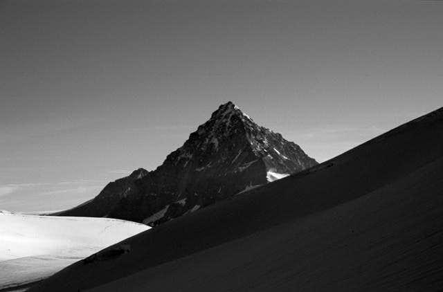 Dent Blanche from Tza de Tzan Glacier