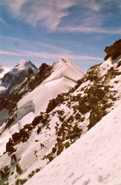 E summit of Breithorn