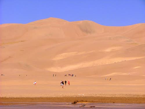 A view of the Dunes from the basin.