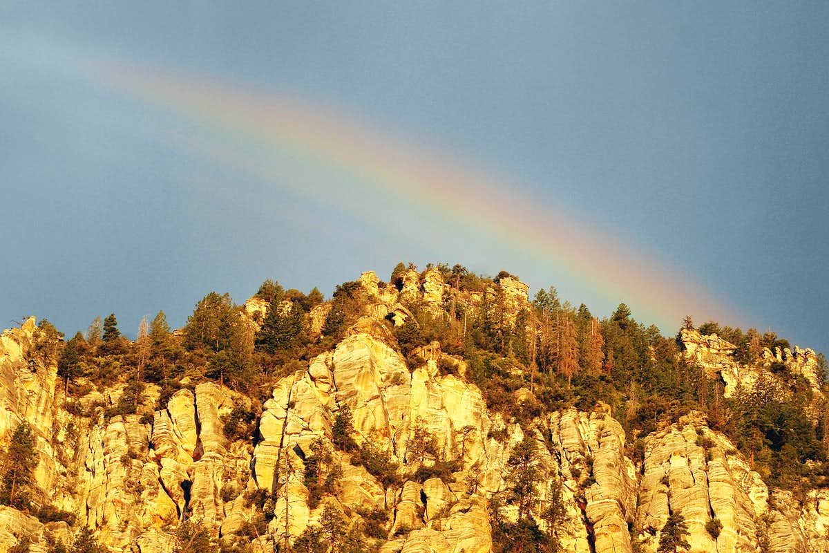 Morning Rainbow Over Harding Point
