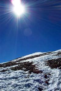 on the summit ridge in...