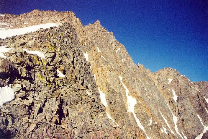 Looking up the East Ridge...