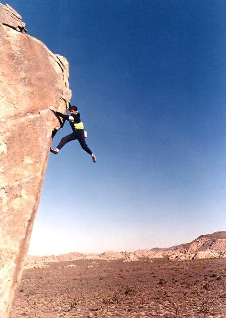 Paul Parker free soloing a...