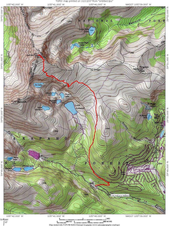 James Peak Trail