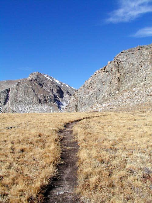 Approaching small boulder field
