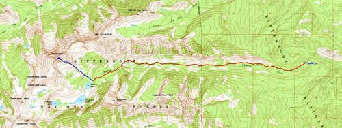 Topo of South Slope Route