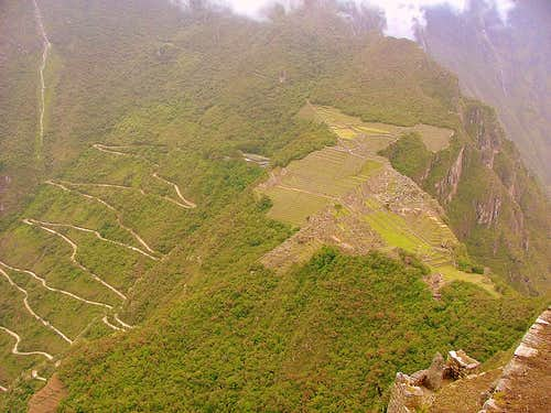 Archaeological site from Huayna Picchu.