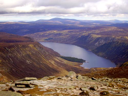 Mount Keen and Glen Muick from Broad Cairn