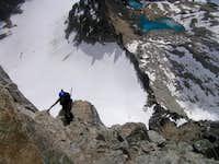 Sophie Climbing Brenta's South Ridge