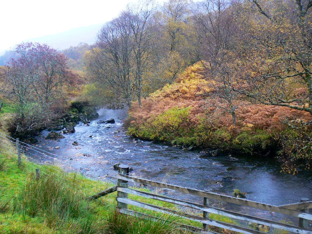 River Falloch in autumn