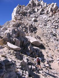 Climbing  Montgomery's south ridge