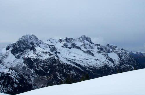 Mt Sefrit from Hannegan Peak