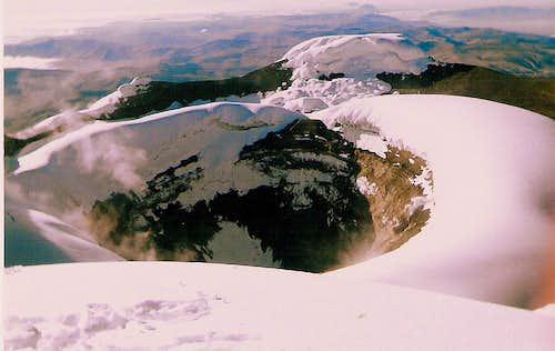 Cotopaxi crater, Ecuador.