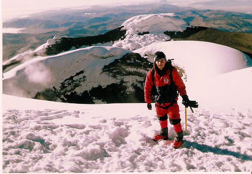 Cotopaxi's summit.