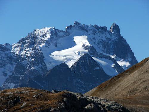 La Meije from Col du Galibier