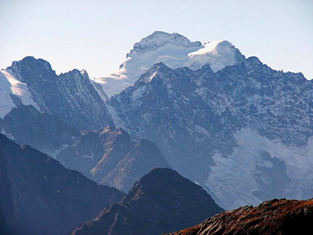 Barre des Ecrins from Col du Galibier