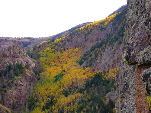Fall colors from the Knife Edge of the Shield