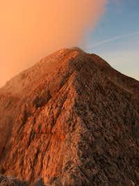 Alpenglow on Vrh Laske Planje / Monte Lasca Plagna