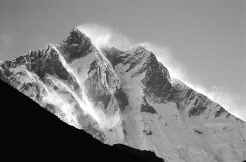 South face of Lhotse in a...