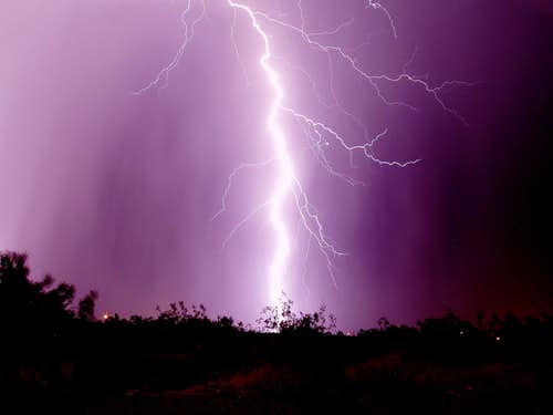 Lightning in the CA High Desert