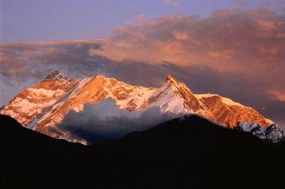 Sunset on Annapurna's massif...