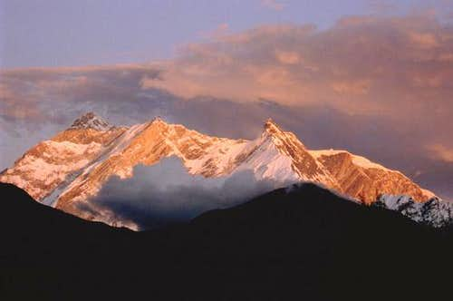 Sunset on Annapurna's massif...