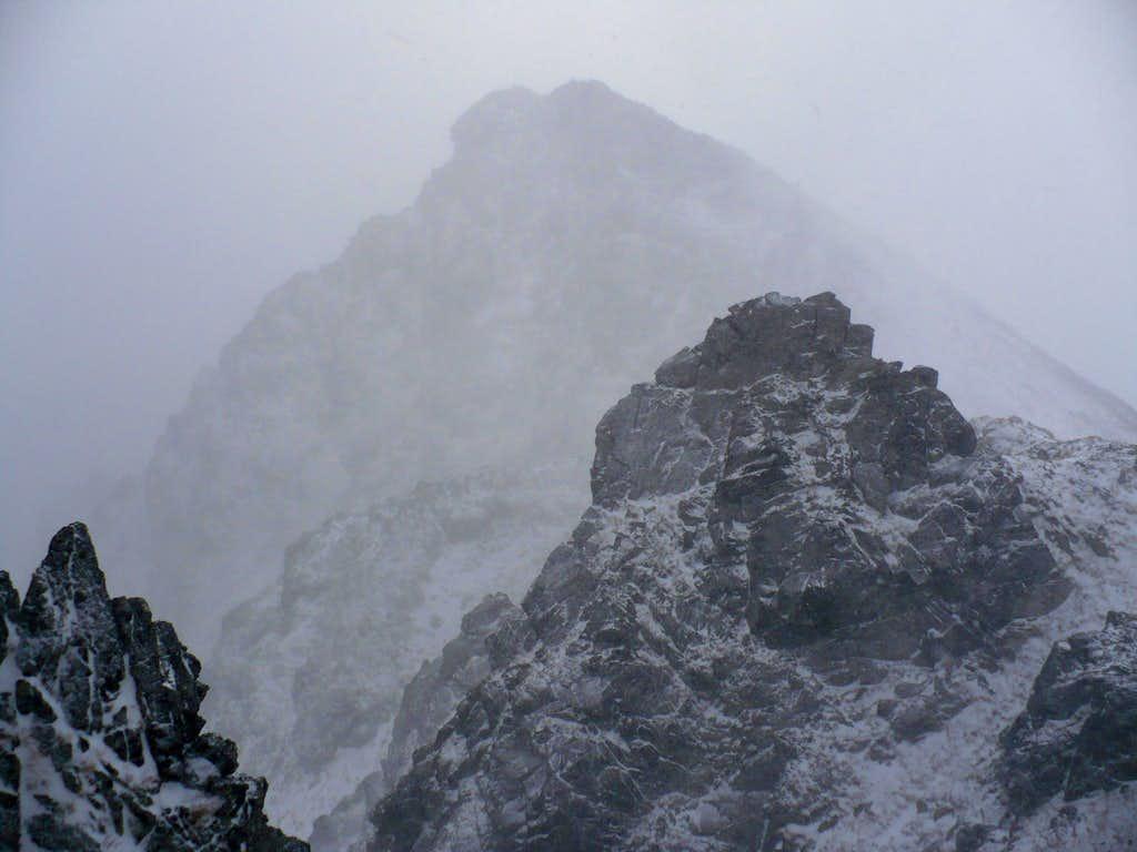 Predne Solisko (2093 m) beaten by hurricane