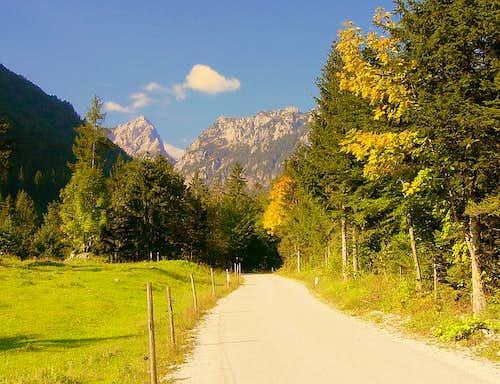 Fall in Robanov Kot, Slovenia