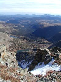 Looking down into Mammoth Gulch