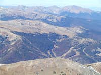 Looking west from James Peak\'s summit