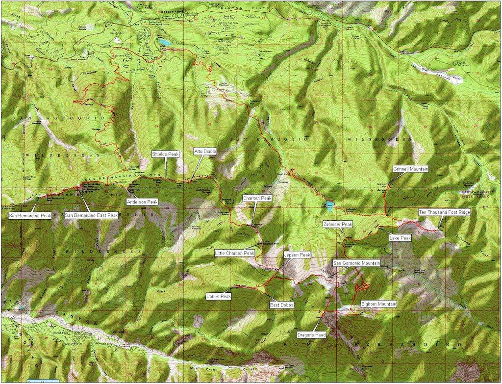 San Gorgonio 17 Peak Loop