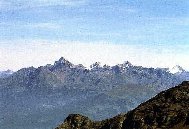 The Emilius range above...