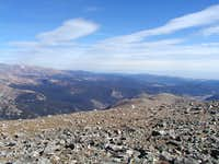 Looking northeast from the summit of James Peak