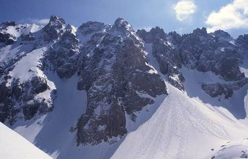Ackerlspitze from northwest,...