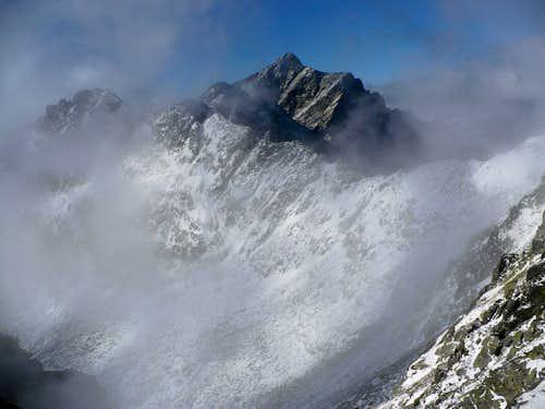 Krivan (2495 m) from Bystre sedlo (2334 m)