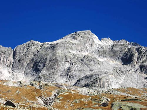 Pizzo del Ferro Orientale seen from biv. Valsecchi.