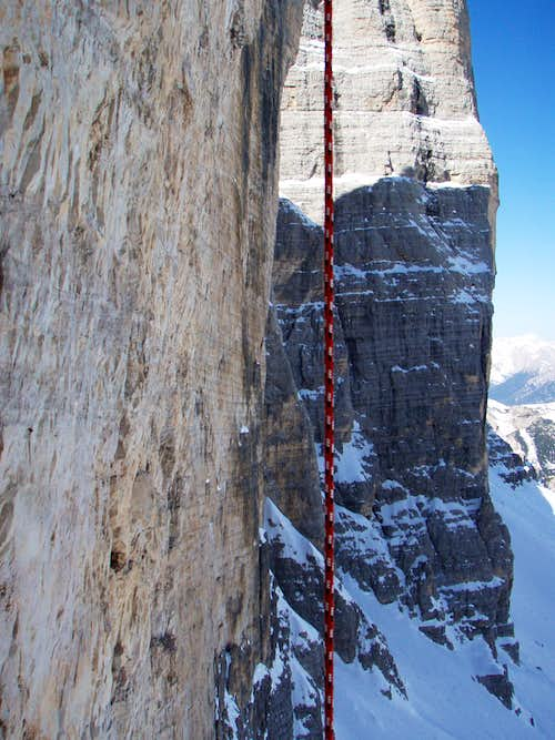 In the North Face of Cima Grande di Lavaredo