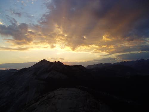 Sunrise from the top of Half Dome
