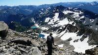 Coming down Black Peak