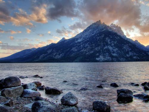 The Tetons at Sunset 2