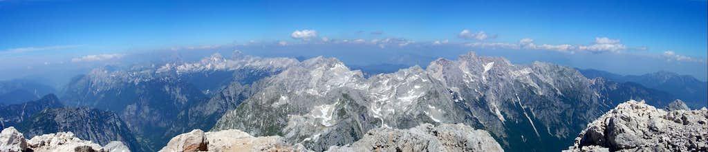 North view from Triglav summit