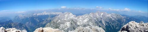 North view from Triglav summit